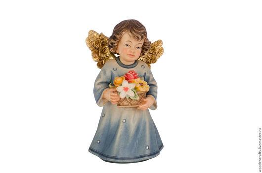 Статуэтки ручной работы. Ярмарка Мастеров - ручная работа. Купить Ангел с цветами. Handmade. Комбинированный, Ангел хранитель, роза, синий