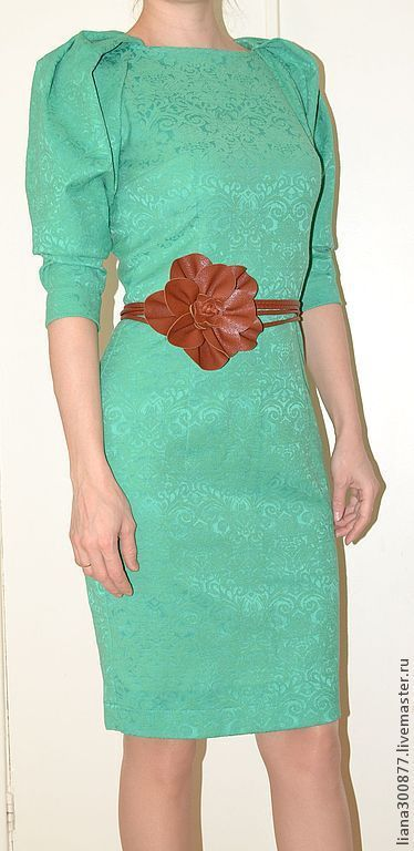 """Платья ручной работы. Ярмарка Мастеров - ручная работа. Купить Платье """"Изумруд"""".. Handmade. Ярко-зелёный, реглан, молния потайная"""