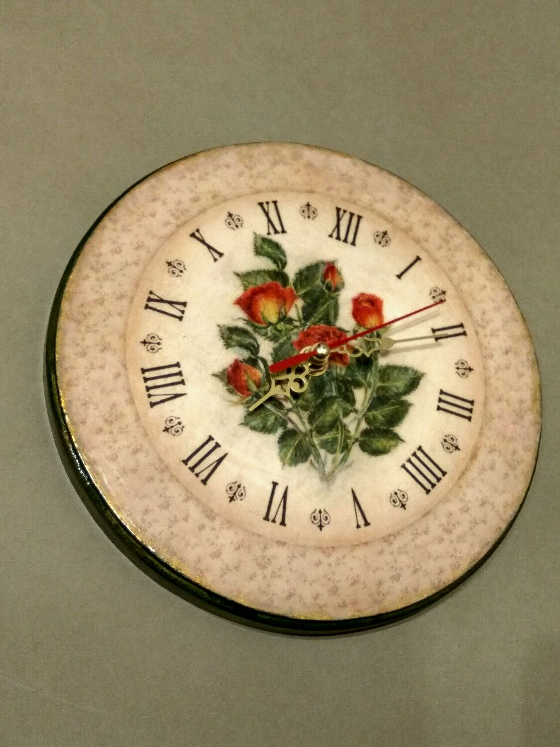 Wall clock Bouquet of roses, Watch, Moscow,  Фото №1