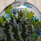 Посуда ручной работы. Ярмарка Мастеров - ручная работа Бутылка Чертополох, витражная роспись. Handmade.