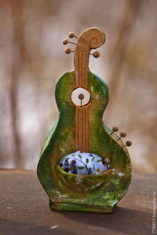 Статуэтки ручной работы. Ярмарка Мастеров - ручная работа. Купить Плодовитость. Handmade. Зеленый, скрипка, музыка, инструмент, виолончель, контробас