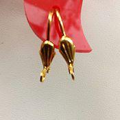 handmade. Livemaster - original item Earrings for earrings18K gold plated,20mm. Handmade.