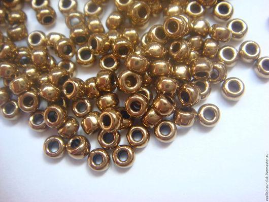 Для украшений ручной работы. Ярмарка Мастеров - ручная работа. Купить Бисер Miyuki Rocailles Beads 8er -3 mm Metallic Bronze. Handmade.