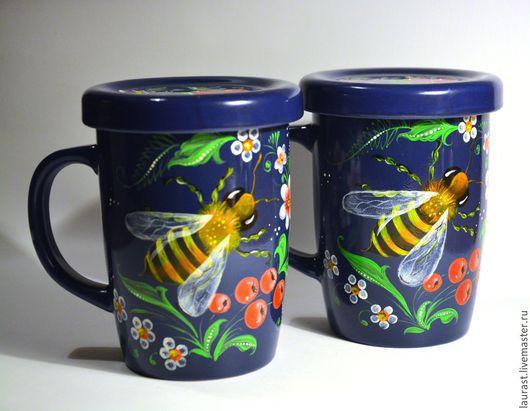 """Кружки и чашки ручной работы. Ярмарка Мастеров - ручная работа. Купить Кружка """"Сладкий полет"""". Handmade. Тёмно-синий, чай"""