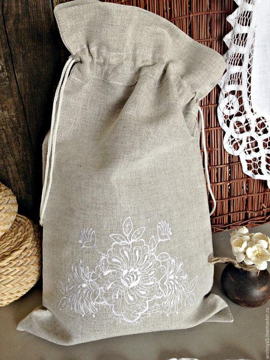 Кухня ручной работы. Ярмарка Мастеров - ручная работа. Купить Хлебный мешочек. Handmade. Серый, мешочек для хлеба, интерьер кухни