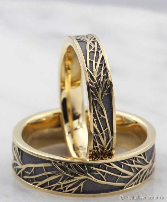Золотые обручальные кольца, Кольца, Санкт-Петербург,  Фото №1