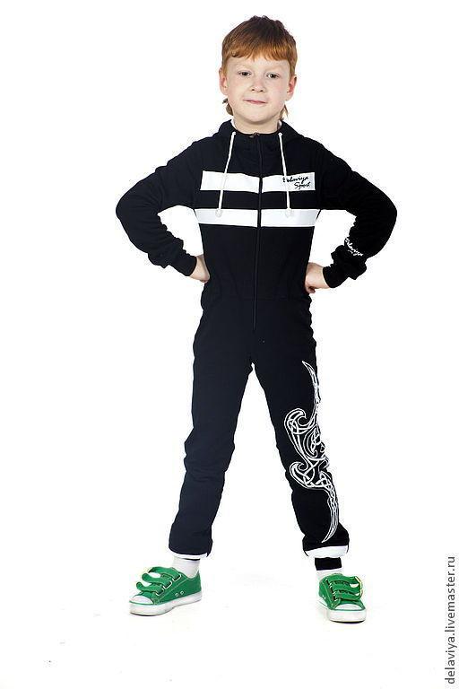 """Одежда унисекс ручной работы. Ярмарка Мастеров - ручная работа. Купить Комбинезн """"Black Keltik"""" от Делавьи. Handmade. Чёрно-белый"""