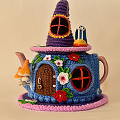 Для дома и интерьера ручной работы. Ярмарка Мастеров - ручная работа Улитка и бабочка в волшебном домике. Handmade.