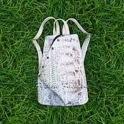 handmade. Livemaster - original item Backpack Python leather FUSION. Handmade.