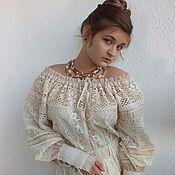 """Одежда ручной работы. Ярмарка Мастеров - ручная работа Бохо-блуза """"Одетта Cream"""". Handmade."""