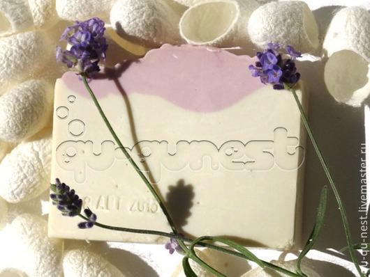 Мыло ручной работы. Ярмарка Мастеров - ручная работа. Купить Лаванда, Оливка и шелк - Marselle-type - натуральное оливковое мыло. Handmade.