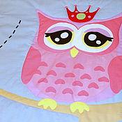 Для дома и интерьера ручной работы. Ярмарка Мастеров - ручная работа Детское покрывало Сова-принцесса. Handmade.