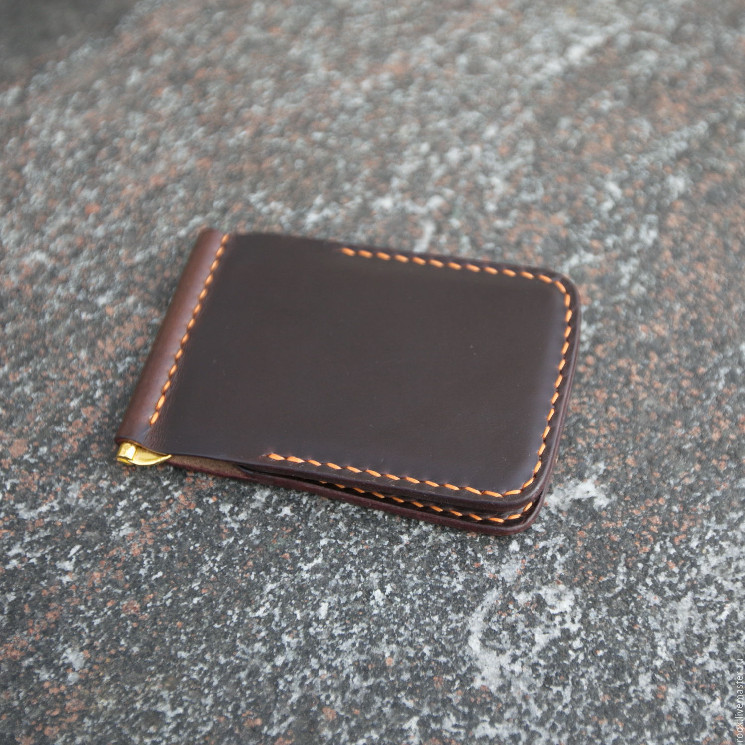 Wallet money clip horween leather shop online on livemaster buy wallet money clip wallets business card holders handmade wallet money clip horween leather magicingreecefo Choice Image