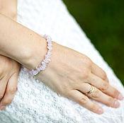 Украшения ручной работы. Ярмарка Мастеров - ручная работа Розовый кварц, браслет. Handmade.