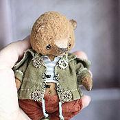 Куклы и игрушки ручной работы. Ярмарка Мастеров - ручная работа Вася мишка тедди 12см. Handmade.
