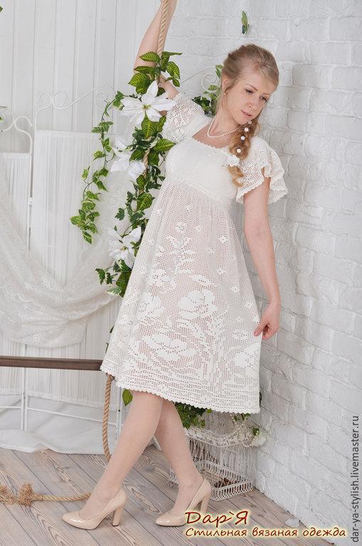 Фото галереи вязаных свадебных платьев