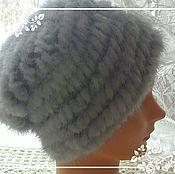 Аксессуары handmade. Livemaster - original item Cap of knitted mink