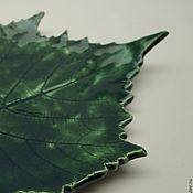 Для дома и интерьера ручной работы. Ярмарка Мастеров - ручная работа Керамическое блюдце ручной работы - виноградный лист. Handmade.