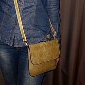Сумки и аксессуары handmade. Livemaster - original item Little bag of sand - olive pul-ap. Envelope, clutch bag.. Handmade.