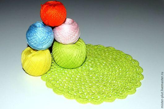 """Текстиль, ковры ручной работы. Ярмарка Мастеров - ручная работа. Купить Салфетка крючком """"Лайм"""". Handmade. Ярко-зелёный, салфетка"""