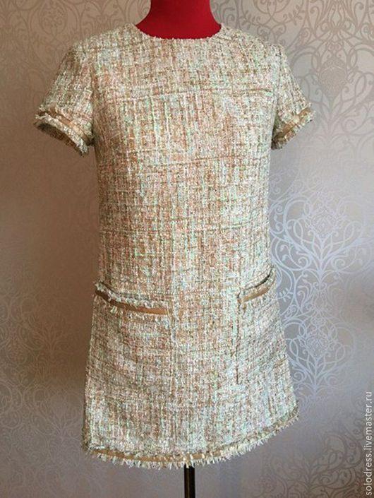 Платья ручной работы. Ярмарка Мастеров - ручная работа. Купить Платье из итальянского твида. Handmade. Итальянские ткани, платье трапеция