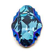 Oval Tribe 19х14 Aquamarine Metallic Blue Кристаллы Сваровски