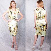 Одежда handmade. Livemaster - original item Silk dress yellow