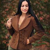 handmade. Livemaster - original item Warm jacket with hand embroidery