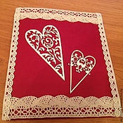 Открытки ручной работы. Ярмарка Мастеров - ручная работа Красная свадебная открытка. Handmade.