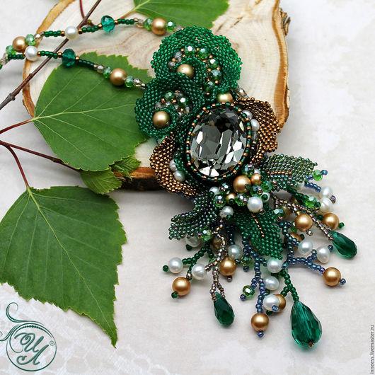 """Кулоны, подвески ручной работы. Ярмарка Мастеров - ручная работа. Купить Кулон """"Купальская ночь"""". Handmade. Зеленый, сказка, лесной"""