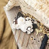 """Украшения ручной работы. Ярмарка Мастеров - ручная работа Гребень  """"Семена цветов"""". Handmade."""