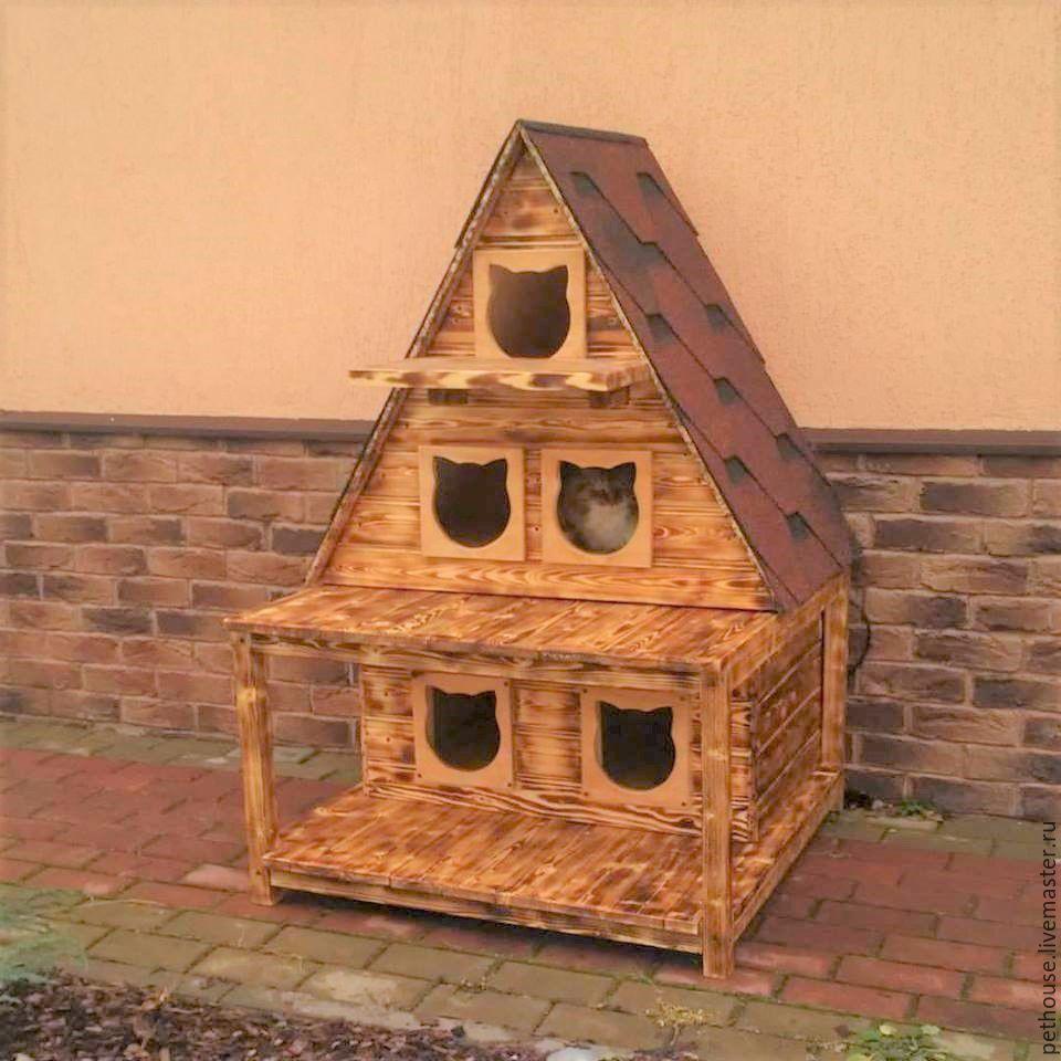 Треугольные домики для кошек