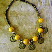 Работы для детей, handmade. Livemaster - original item A necklace of wooden beads