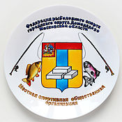 Посуда handmade. Livemaster - original item The decorative plate on the wall of your corporate logo. Handmade.