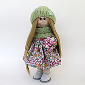 Куклы и игрушки handmade. Livemaster - original item Doll interior, knitted Doll for gift, textile. Handmade.