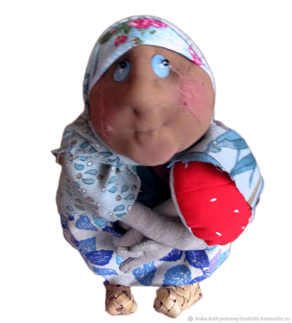 Баба Яга с мухомором, Мягкие игрушки, Великий Новгород,  Фото №1
