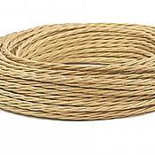 Дизайн ручной работы. Ярмарка Мастеров - ручная работа Провод витой для наружной проводки 2х0,75 бронзовый шелк. Handmade.