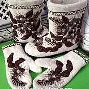 Ботинки ручной работы. Ярмарка Мастеров - ручная работа Полуваленки, валенки, валенки на подошве , валенки с вышивкой. Handmade.