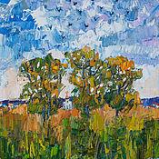 Картины ручной работы. Ярмарка Мастеров - ручная работа «Зарисовка уходящей осени» Картина маслом пейзаж. Handmade.