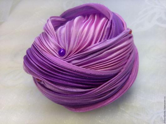 Для украшений ручной работы. Ярмарка Мастеров - ручная работа. Купить №77 Истома  Ленты Шибори Silk Ribbons Shibori. Handmade.