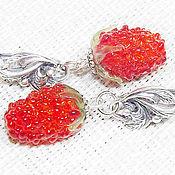 Украшения handmade. Livemaster - original item Sweet summer earrings lampwork. Handmade.