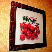 Картины и панно ручной работы. Ярмарка Мастеров - ручная работа Вишня в шоколаде. Handmade.