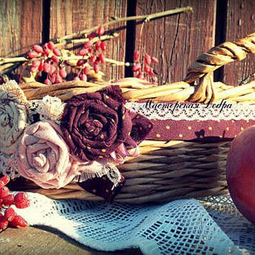 """Для дома и интерьера ручной работы. Ярмарка Мастеров - ручная работа Корзина плетеная, конфетница """"Барбара"""". Handmade."""