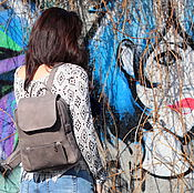 Рюкзаки ручной работы. Ярмарка Мастеров - ручная работа Кожаный рюкзак МОККО. Handmade.