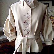 Одежда ручной работы. Ярмарка Мастеров - ручная работа Жакет в русском стиле с вышивкой. Handmade.