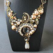 Украшения handmade. Livemaster - original item Pearl Cicada Necklace. Handmade.