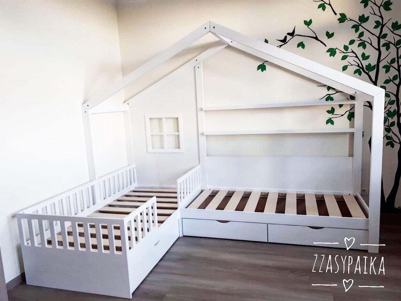 Детская кровать, кровать домиком, Мебель для детской, Москва,  Фото №1
