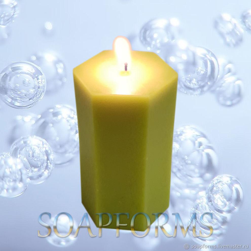 Силиконовая форма для свечей `Шестиугольная призма` Купить силиконовую форму для свечей  `Шестиугольная призма`
