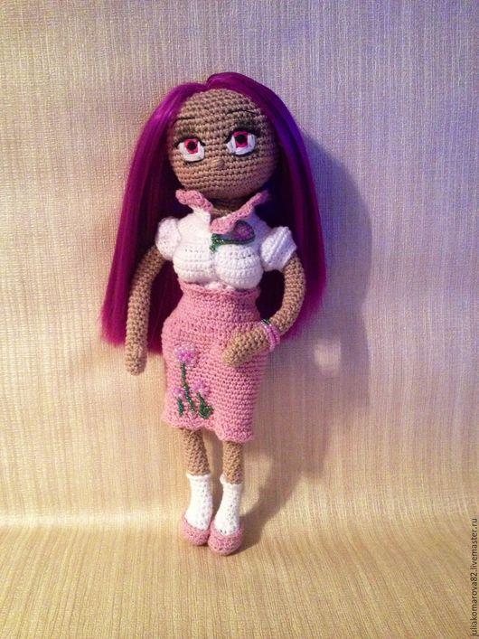 Портретные куклы ручной работы. Ярмарка Мастеров - ручная работа. Купить Кукла Стелла. Handmade. Сиреневый, модница, вязаная кукла