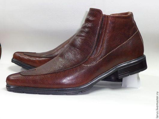 Обувь ручной работы. Ярмарка Мастеров - ручная работа. Купить Мужские ботинки (классика). Handmade. Коричневый